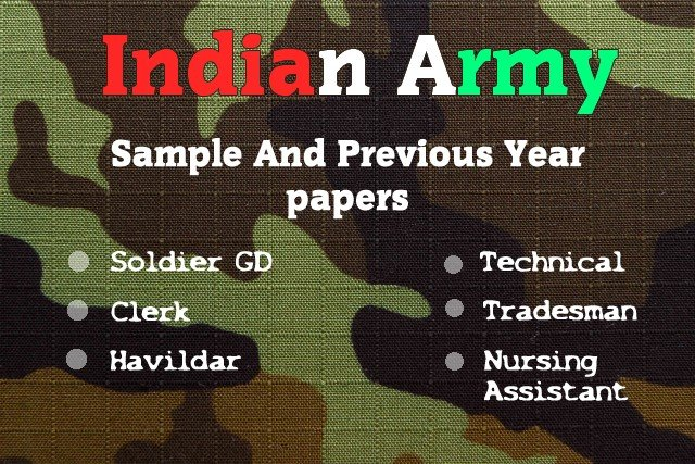 Indian Army Written Exam Important Questions Answers