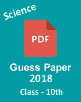 CBSE 10th Science guess paper 2018