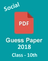 CBSE 10th Social science guess paper 2018