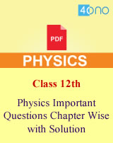 CBSE 12th Physics Very Important Questions Chapter Wise PDF