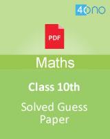 CBSE class 10 Maths guess paper 2019