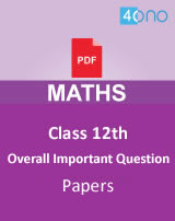 CBSE class 12 Maths Overall Important Question papers