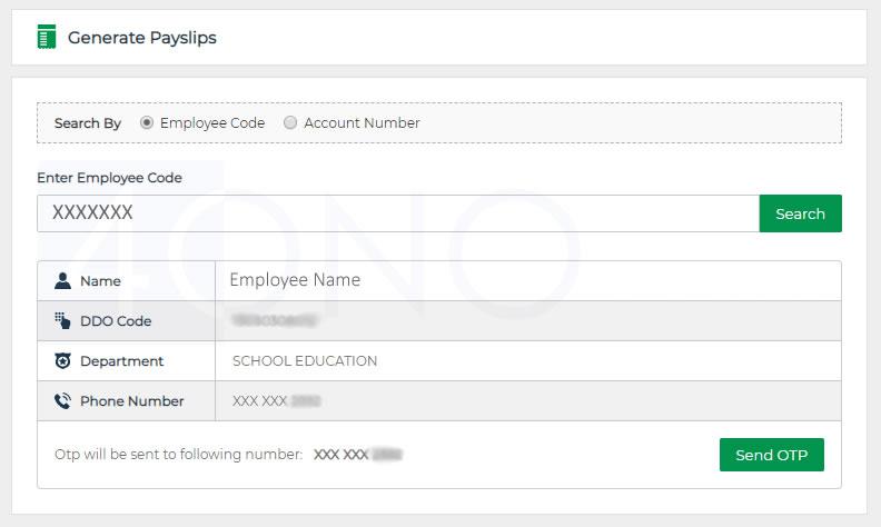 IFMIS Pay Slip For TS Employee (Telangana State)