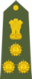 Indian army brigadier shoulder patch